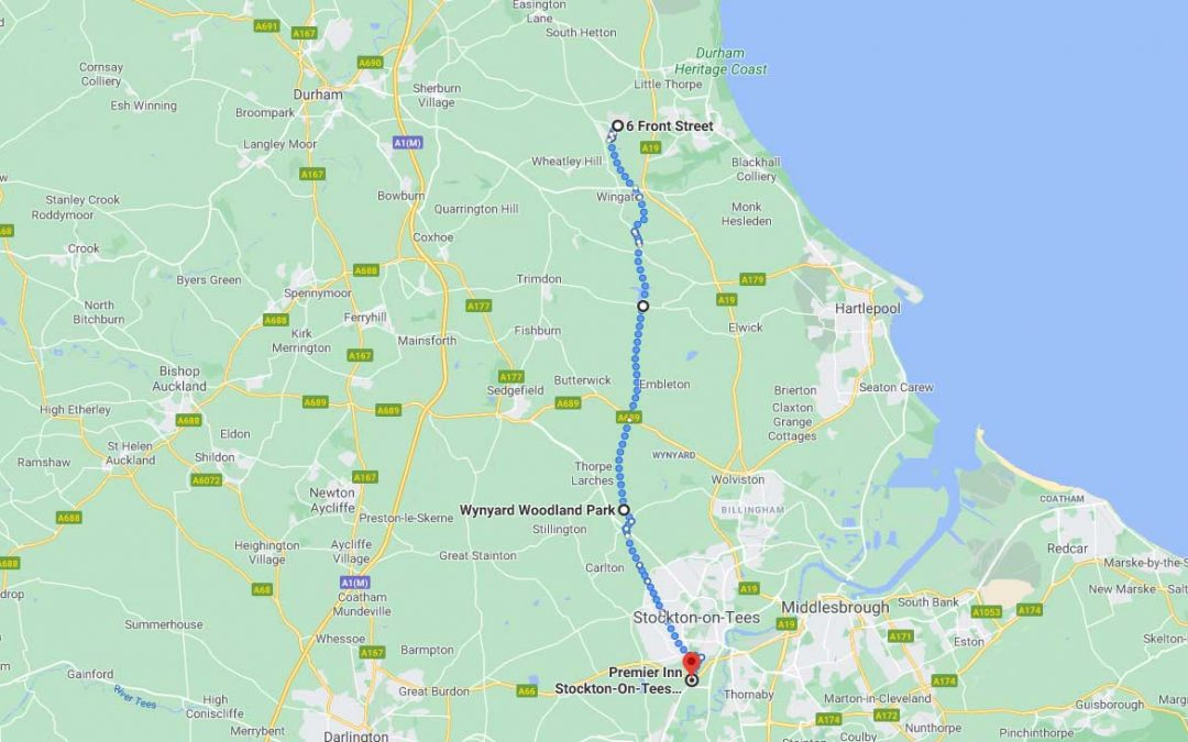 Day 1: Shotton to Stockton-on-Tees